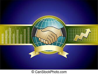 Vector illustration of businessmen handshaking concept.
