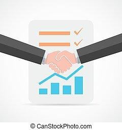 Handshake. Vector illustration.