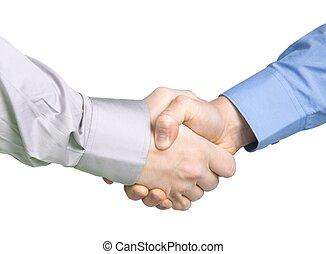 Handshake with a  ba