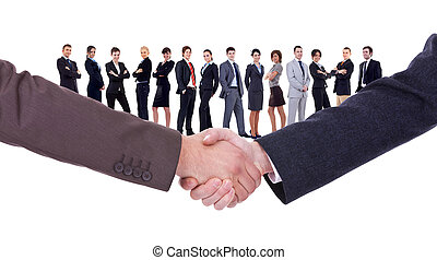 handshakeof two businessmen