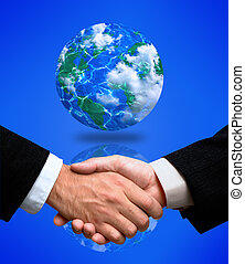 handshake(special f/x) - world agreement(made from my images...