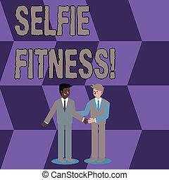 handshaking., 照片, selfie, 微笑, 图画, 作品, 其它, 概念性, 体育馆, 本身, 商业,...