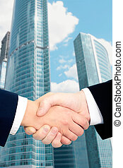 Handshaking - Conceptual photo of businessmen�s handshake ...