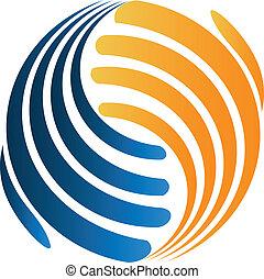 handshaking, negócio, logotipo