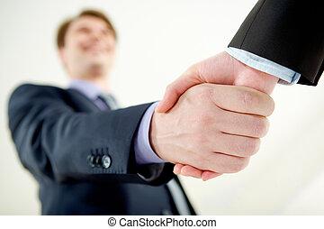 Handshaking of partners