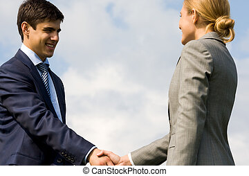 Handshaking partners