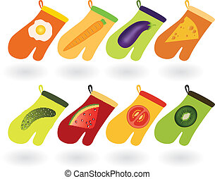 handskar, kök