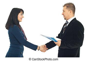handslag, affärsfolk