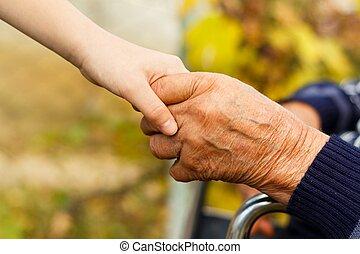 handslag, kontrast