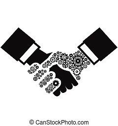 handslag, utrustar