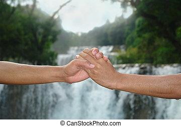 handslag, vattenfall