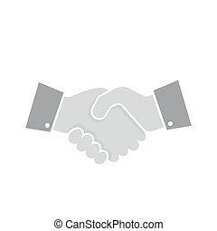 handslag, vektor, icon., illustration.