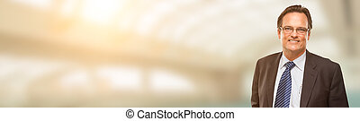 Handsome Adult Businessman Portrait with Room For Text.
