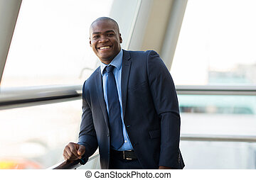 african businessman in modern office