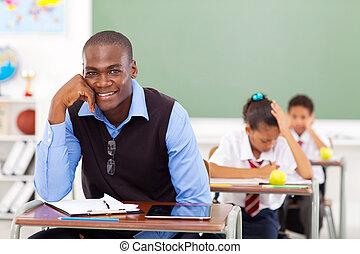 handsome african school teacher