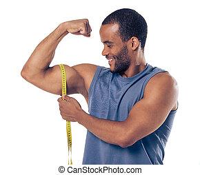 Handsome Afro American sportsman