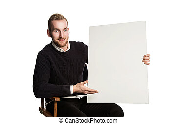 A cool handsome bearded caucasian