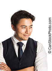 Handsome and cool businessman