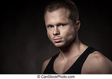 Handsome athlete