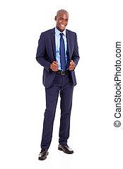 handsome black businessman in suit
