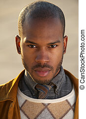 Handsome black male fashion model