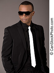 Handsome black man in business suit