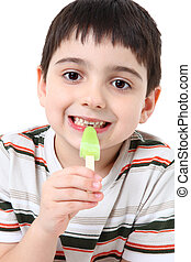 Handsome Boy with Popsicle