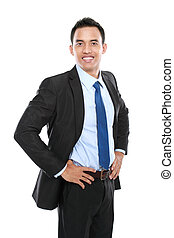 business man isolated on white background
