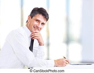 Handsome business man smiling