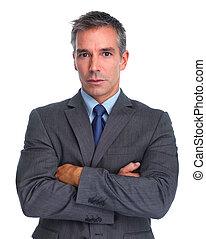 Handsome businessman.