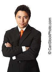 Handsome businessman in a suit
