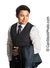 Handsome businessman in vest