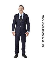 handsome businessman wearing suit