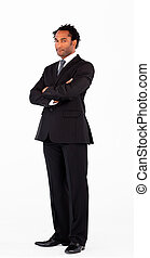 Handsome businessman with crossed arms