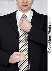 Handsome businessman with tie