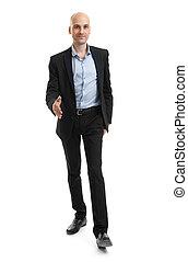 Handsome caucasian Man In a suit