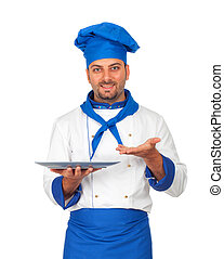 Handsome chef isolated