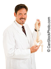 Handsome Chiropractor Isolated