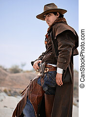cowboy - handsome cowboy in specific clothing with weapon....