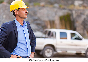 determined mine manager - handsome determined mine manager...