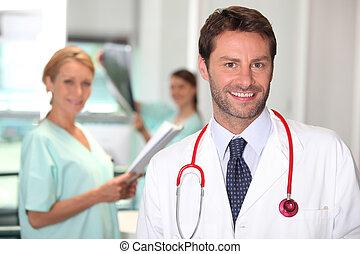 Handsome doctor.