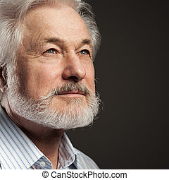 Handsome, elderly man