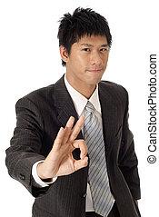 Handsome executive