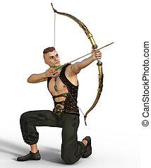 Handsome fantasy archer