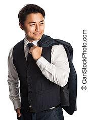 Handsome fashionable businessman