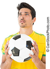 Handsome football player