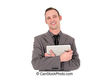 Handsome friendly businessman
