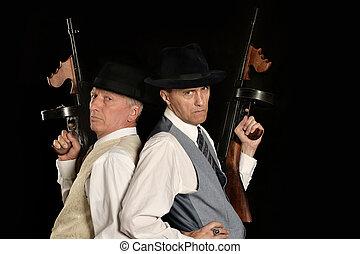 Handsome gangster men