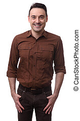 happy man isolated on a white background