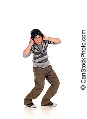 Handsome hip hop youngster